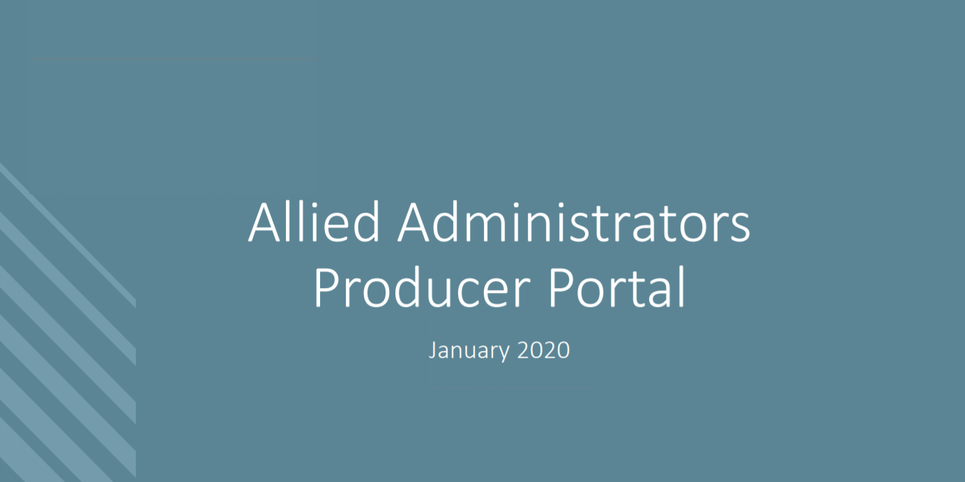 Allied Administrators Rolls Out New Producer Portal