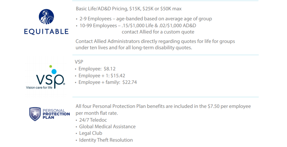 Allied Benefit Suite: Personal Protection Plan Rate Change Effective 5/1/20