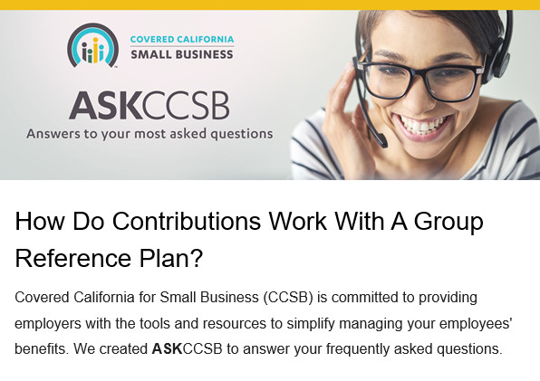 ASKCCSB: Contributions with Group Reference Plan