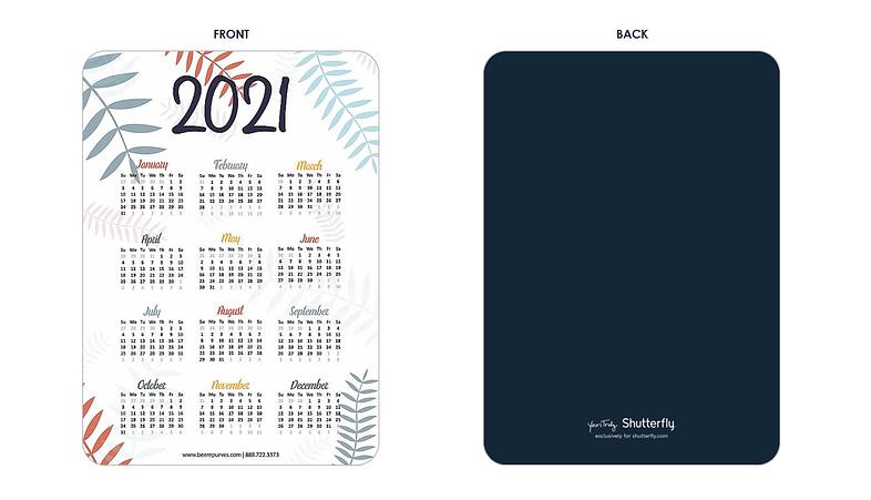 Get Your 2021 B&P Calendar Card!