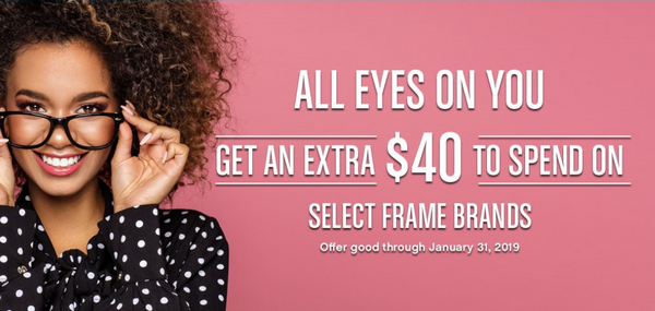 VSP: Extra $40 To Spend on Select Frames