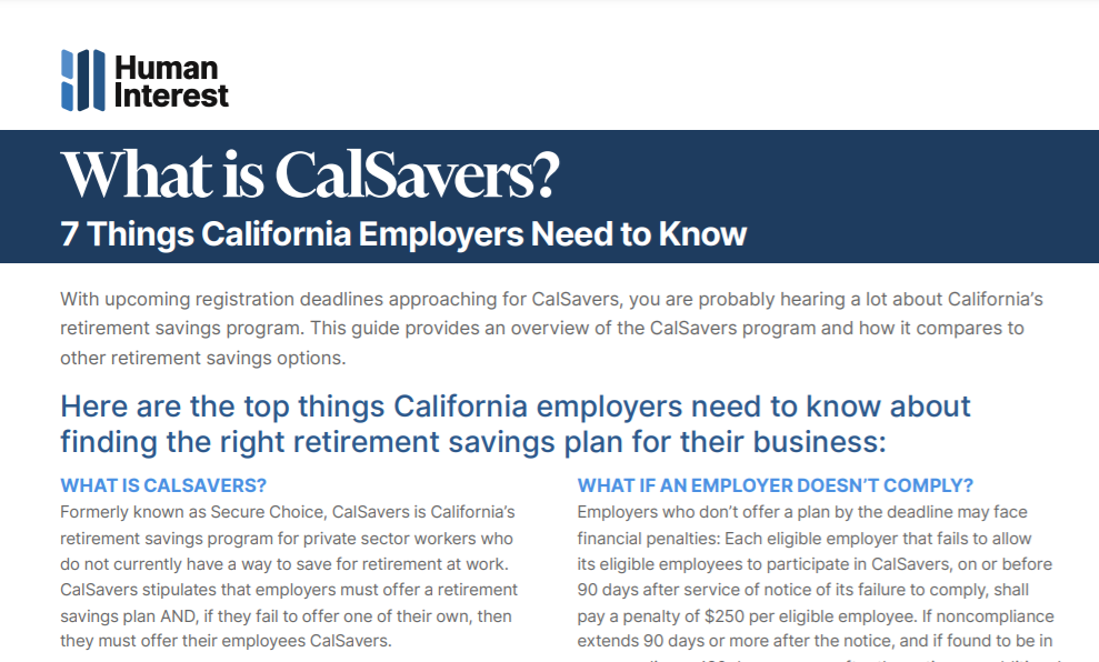 What is CalSavers?